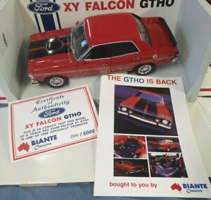 XY Ford Falcon GTHO Track Red Biante Classics 1/18 FREE POSTAGE.
