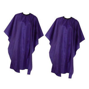 2x Large Barber Salon Hairdressing Gown Hair Cutting Cape Unisex Purple