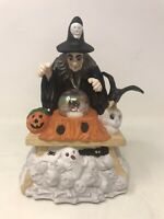 1992 Prettique Inc Halloween Collectible Samantha The Witch Light Up Sculpture