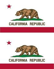 2 x Autocollant sticker voiture vinyl drapeau USA americain california