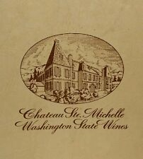 Vtg Chateau Ste Michelle Box Washington State Wines Wooden Display Box Only