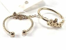 Fashion Costume Jewelry Mid Knuckle Ring SZ 4 Gold Metal Band Inspirational Love
