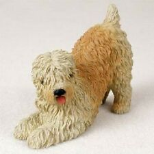 Soft Coated Wheaten Dog Hand Painted Figurine Resin Statue Collectible Terrier