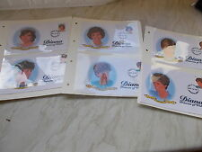 6 First Day of Issue Stamps of Diana Princess of Wales - Charlestown Nevis 1997