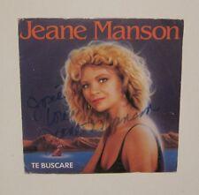 45T JEANE MANSON te buscare / Signé / Autographe !