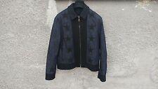 Givenchy Star Applique Denim Wool Rottweiler Madonna Bomber Jacket size 48 (M)