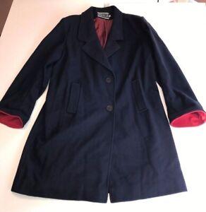 VINTAGE Spencer Douglas Wool Coat Andover by Forstmann Overcoat Jacket Womens 16