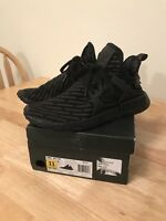 Adidas NMD XR1 PK Prime knit BA7214 Triple Black Size 11.  Nearly New