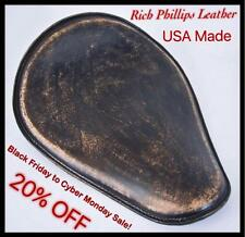 Black Friday Cyber Monday Rich Phillips Leather Spring Solo Motorcycle Bobber