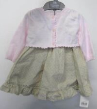 Mothercare Girl's Neutral dress n Pink Cardigan Layette Set 3-6 months 3 Piece