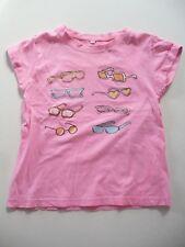 T-shirt 7 - 8 Ans haut motif lunettes manches courtes à revers rose Fille été