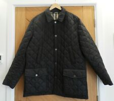 BURBERRY black diamond-quilted field jacket with Burberry vintage lining size XL