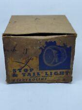 Vintage Electroline v312 Stop and Tail Light Art Deco Hot Rod Rat Rod NOS