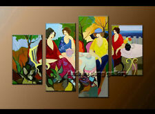 Modern Itzchak Tarkay Oil Painting Repro art Living Room Wall Dawning Thoughts