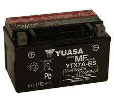 Genuine Yuasa YTX7A-BS Motorbike Motorcycle Battery Inc Filling Kit