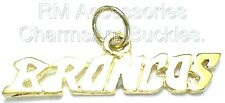 Broncos Charm Word Pendant EP Gold Plated with a Lifetime Guarantee!