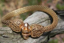 Greek Roman Style Bracelet Copper Base 14Kt Gold Filled Made in Italy