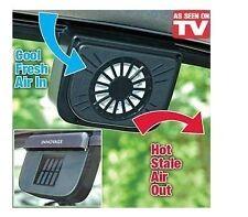 SOLAR POWERED HEAT WINDOW FAN VENTILATOR AUTO COOL PET AIR VENT CAR VAN  AC16