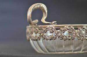 19th GERMAN COMBINATION OF CUT CRYSTAL GLASS & SILVER FRUIT / SWEETS BOWL SNAKES