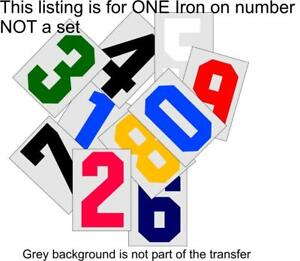 Iron on Numbers or Letters Sport Uniforms Tshirts Jerseys Football Soccer