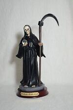 "La Santa Muerte 8 1/2"" Grim Reaper Holy Death Color Black- Skull, Skeleton"