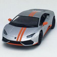 New Kinsmart Lamborghini Huracan LP610-4 AVIO Diecast Model Toy Car 1:36 Silver