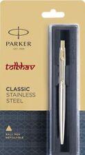 Parker Classic Stainless Steel GT Ball Pen BP Gold Trim Point New Jotter Vector