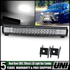 LED Light Bar 20Inch 126W Spot Flood Combo Beam Offroad Fog Lights 4WD Car Truck
