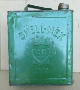 VINTAGE 2 GALLON SHELL PETROL CAN WITH SHELL CAP