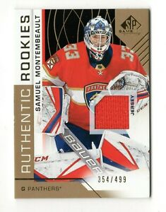 SAMUEL MONTEMBEAULT NHL 2018-19 SP GAME USED GOLD JERSEY /499 (FLORIDA PANTHERS)