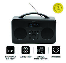 Coppice DAB+ FM DAB Digital Radio Portable Wireless Battery/Mains Powered-Black