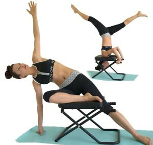 Longer + Wider + Bigger Fitness Trainer Yoga Chair INVERSION BENCH Headstand
