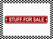 (SA-1397) Stuff For Sale Street Sign 3×18 Metal Plaque