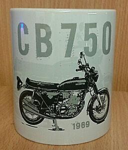 CB750 CLASSIC RETRO HONDA BIKE (1969) WHITE QUALITY BOXED MUG - IDEAL GIFT PARTS