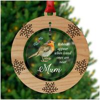 In Loving Memory Robin PERSONALISED Christmas Decoration Mum Dad Nanny Sister