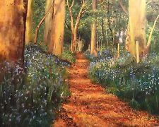 Nuevo Original David Aldus el Ridgeway Grim's Ditch antigua pintura al óleo lienzo