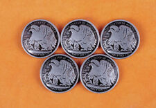 10X 30MM Western Americian Half Dallor Coin Leathercraft Conchos Set Rivet back