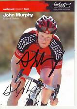 CYCLISME carte cycliste JOHN MURPHY équipe BMC 2010 signée