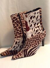 Steve Madden boots size 6, animal multi print, leather upper