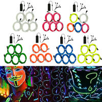 5 by 1M Flexible Neon LED Light Glow EL Wire String Strip Rope Tube Home Decor