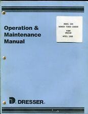 Dresser 540 Rubber Tired loader operation and maintenance manual april 1988