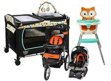 Baby Trend Jogger Stroller with Car Seat High Chair Travel System Combo Set