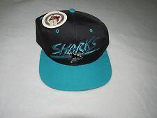 NWT BRAND NEW VINTAGE AJD KIDS SAN JOSE SHARKS SNAPBACK HAT NHL GREEN UNDERBILL