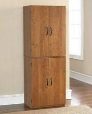 Tall Kitchen Pantry Shelf Food Storage Cabinet Wood Cupboard Bathroom Organizer