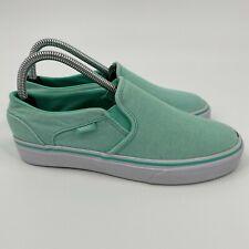Vans Womens TC7H Comfort Slip On Low Top Mint Green Skate Shoes Size 7.5