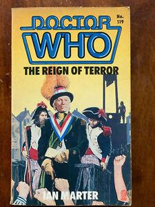 Doctor Who Reign of Terror Ian Marter 1987 TV Sci-Fi Tie-In Paperback