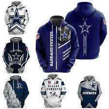 Dallas Cowboys Men's Hoodie Pullover Hooded Sweatshirt Football Casual Jacket