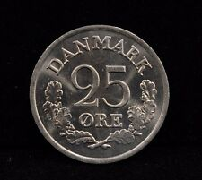 New listing 1966 hCs Denmark 25 Ore Toned Coin Km 850 Unc
