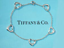 Tiffany & Co Elsa Peretti Sterling Silver Open Heart 5 Hearts Bracelet