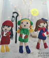 CROCHET PATTERN Christmas Choir Festive Display Toys Doll Amigurumi PATTERN
